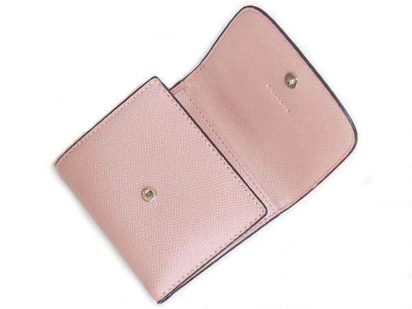 コーチ 三つ折り財布F87588ピンク 内装