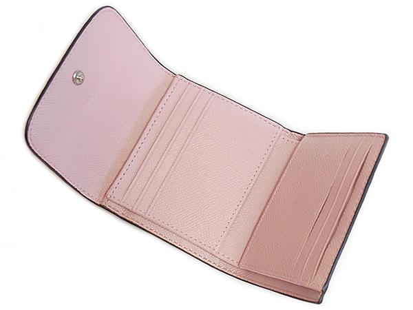 コーチ 三つ折り財布F87588ピンク カード入れ