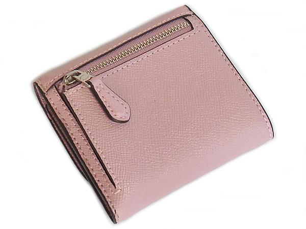 コーチ 三つ折り財布F87588ピンク 背面