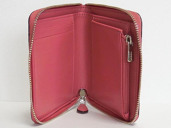 コーチ スモール財布F32147フルーツ白ピンク 内装
