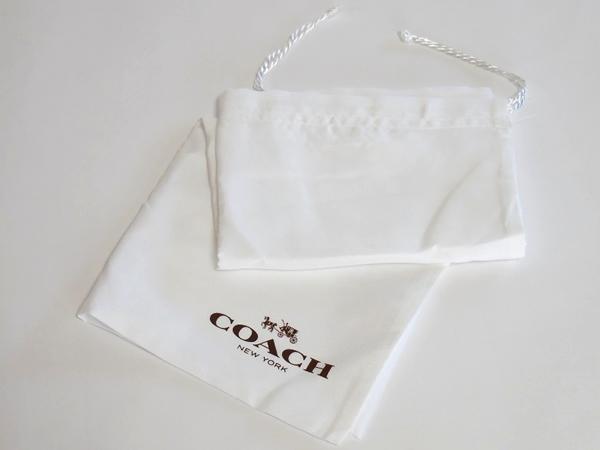 コーチ レディースバッグ 保存袋 白 ロゴ茶色 右
