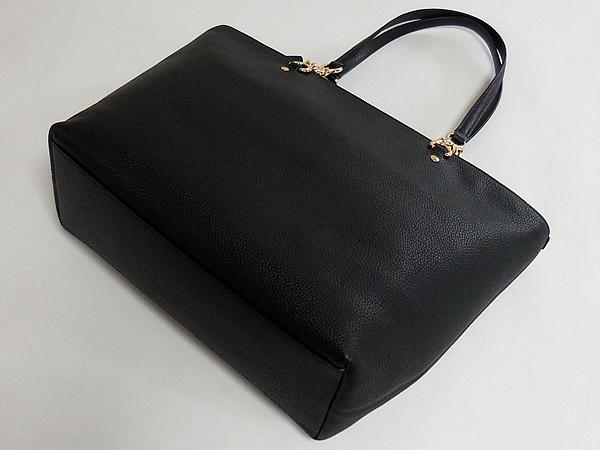 コーチ トートバッグ36600黒 背面