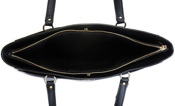 コーチ トートバッグ91150黒 中央荷室