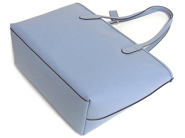 コーチ トートバッグF58846淡い青 背面