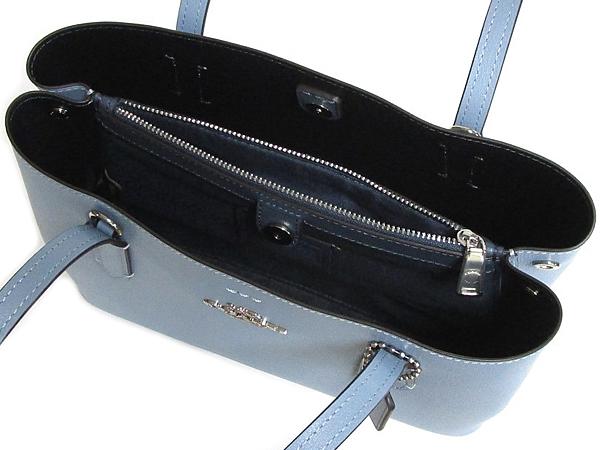 コーチ ミニトートバッグF73278淡い青 内装