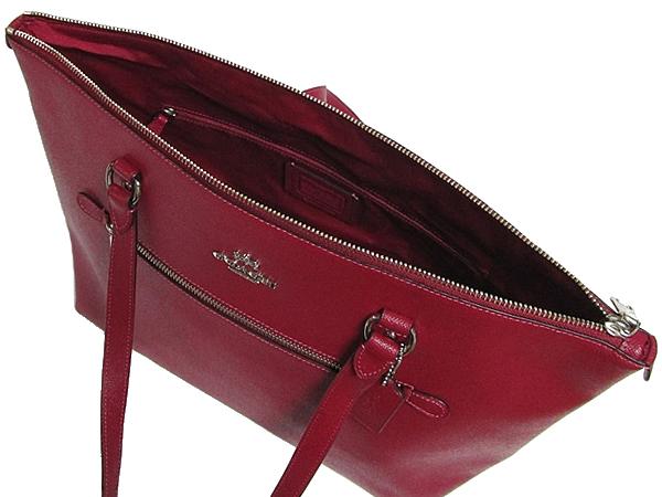 コーチ ギャラリートートバッグF79608赤紫 内装