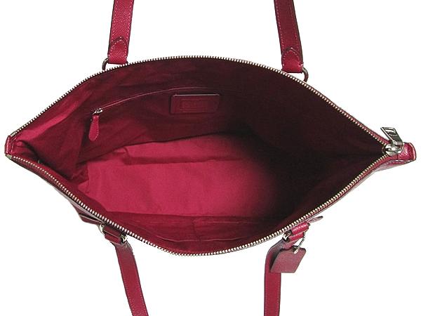 コーチ ギャラリートートバッグF79608赤紫 荷室