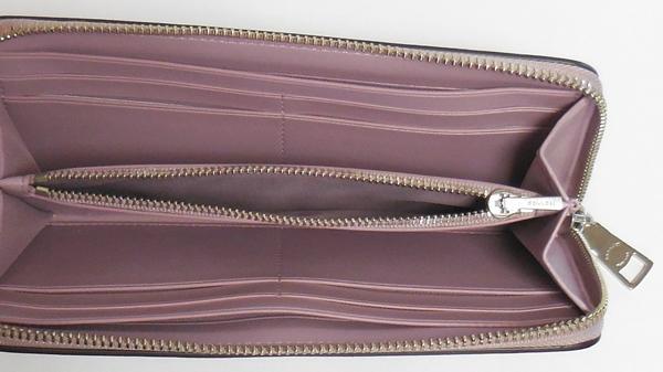 コーチ 長財布F53707薄紫 小銭入れ