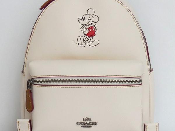 ミッキーマウス リュックサック コーチF59837白 型押し