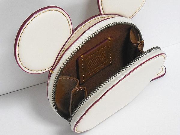 かくれミッキー型コインケース コーチF59071白 内装