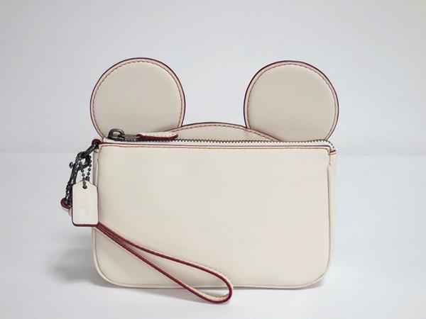 コーチ ミッキーマウス リストレットF59529白 正面