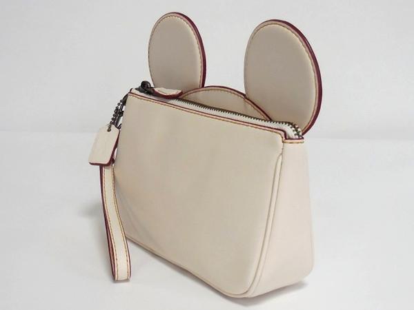 コーチ ミッキーマウス リストレットF59529白 側面