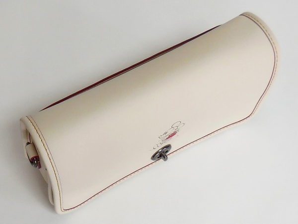ミッキーマウス 斜めがけバッグ コーチF59374白 天面