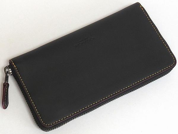 ミッキーマウス レザー長財布F58939黒 背面