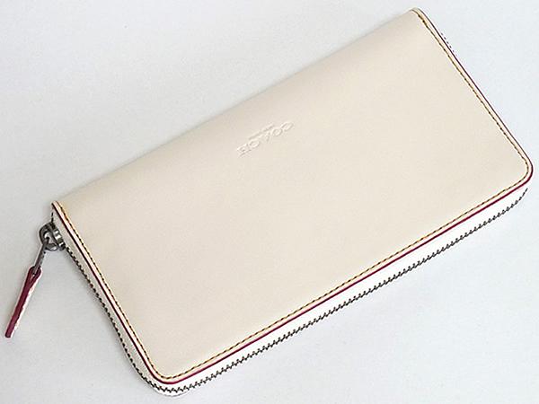 ミッキーマウス レザー長財布F58939白 背面